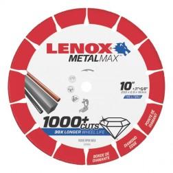 "Lenox METALMAX Cut-Off Wheel - 10"" Diameter, .100"" Thickness, ⅝"" Arbor, 1972926"